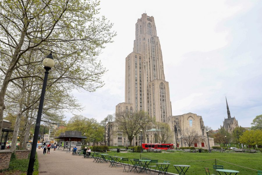 The+Cathedral+of+Learning+watches+over+Schenley+Plaza.