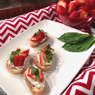 Savory Strawberry Crostini Appetizer