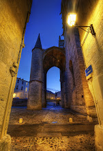 """Photo: Castle Walkway in Montpellier, France (The Castle Alley)  I'll begin today with a new photo from Montpellier, in the south of France. We stayed there with a wonderful family (my friends Jacques and Marie) and had an amazing time. One evening, they took us out for dinner at a perfect little place on a quiet side-street. Along the way, Jacques, who is also a photographer, took me to this amazing castle-cathedral. He said, """"I think this is probably a good area for photography."""" He said this with eyebrows raised and a serious expression. He didn't need to say any more than that!  from the blog www.stuckincustoms.com"""
