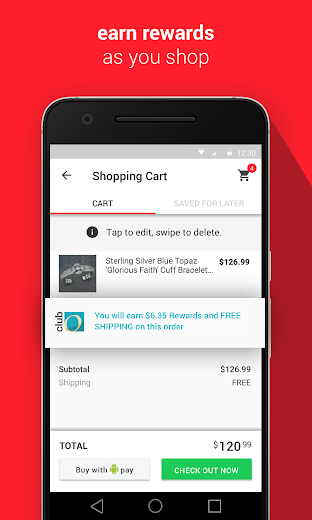 Screenshot 1 for Overstock.com's Android app'