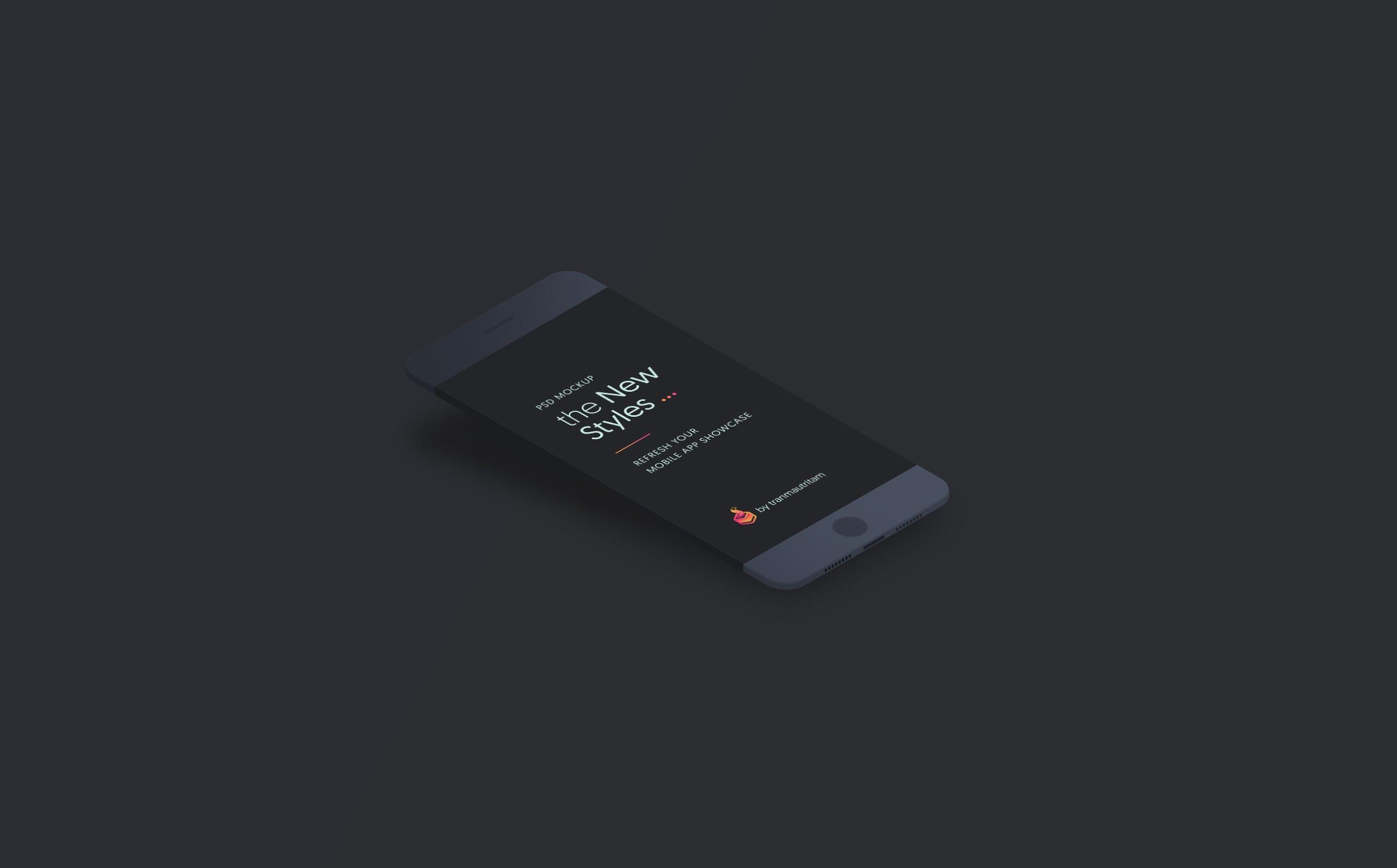 free minimal phone mockup