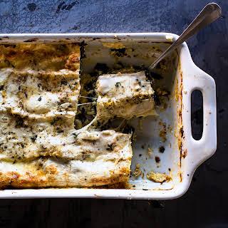 Greens and Cheese Lasagna.