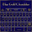 Blue Gold Chandelier Keyboard theme