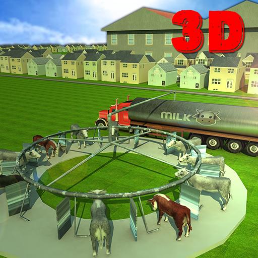 農場的牛奶轉運貨物3D 模擬 App LOGO-硬是要APP
