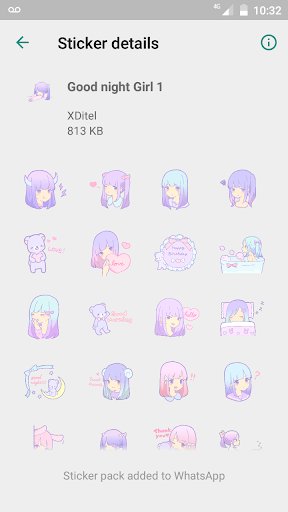 Screenshot for Pastel Girl Stickers in Hong Kong Play Store