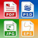 Photo & Image converter: jpg pdf eps psd png bmp.. icon