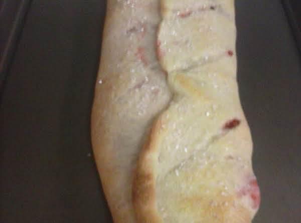 Easy Cherry  Cream Cheese Wrap