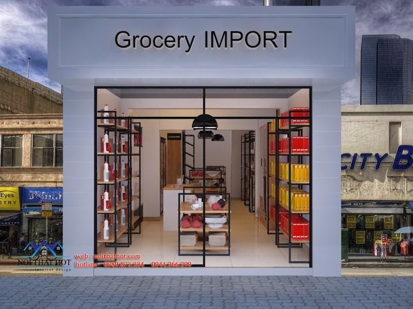 Thiết kế cửa hàng xuất nhập khẩu đẹp
