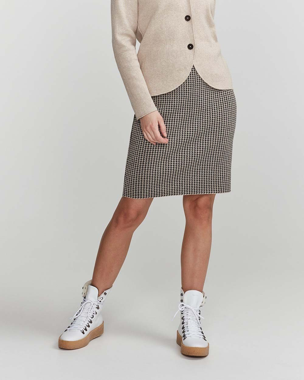 Holebrook Amira skirt khaki black melange
