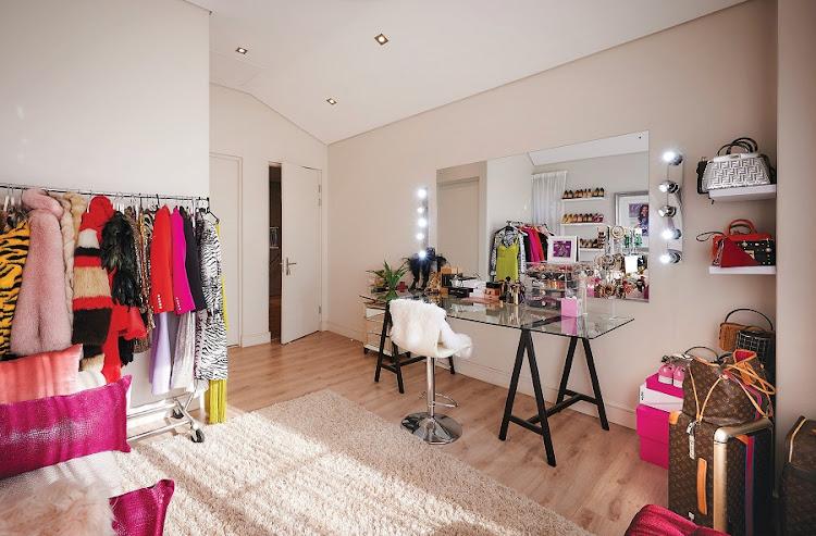 Bonang's glam room.
