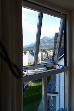 Photo: Looking to Snowdon from our room on the top floor