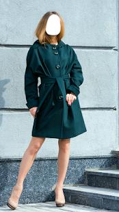 Ženy kabát fotomontáž - náhled