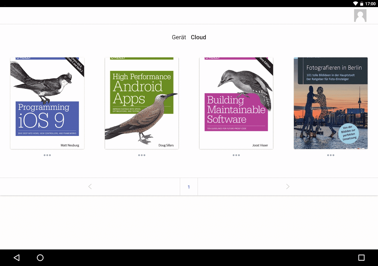 PaperC – E-Book Reader- screenshot