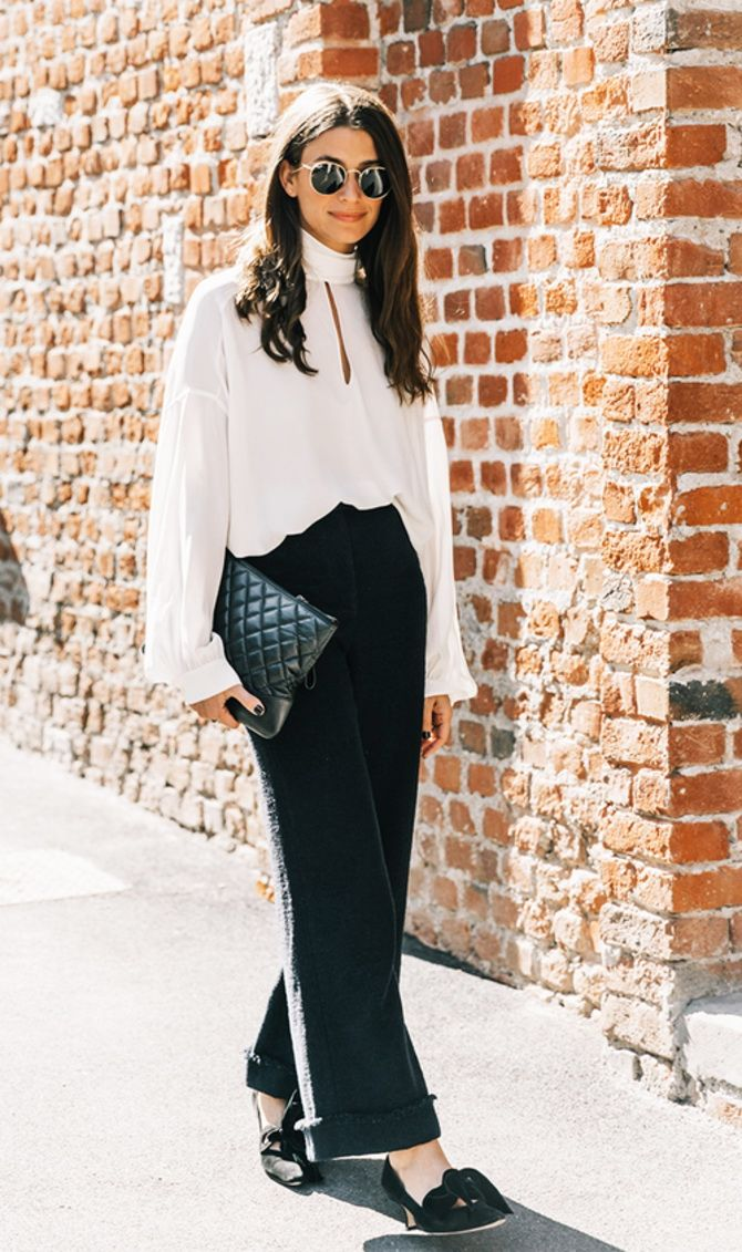 trendy looks, black and white combinations 11