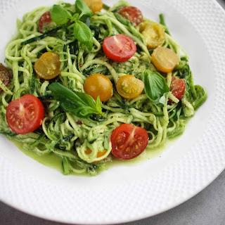 Raw Courgette Spaghetti with Pesto Recipe