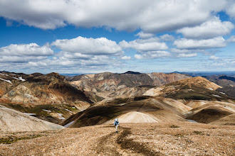 Photo: Cresting the plateau over the rhyolite mountains