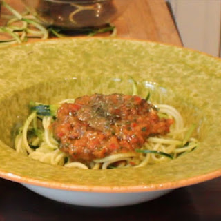 Marinara Sauce with Zucchini Noodles Raw