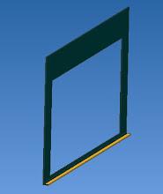 Photo: la porte : en tôle  a découper et ajout éventuel d'un cornière en bas