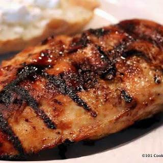 Honey Glazede Grilled Skinless Boneless Chicken Breast.
