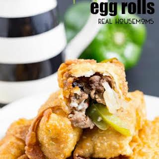 Philly Cheese Steak Egg Rolls.