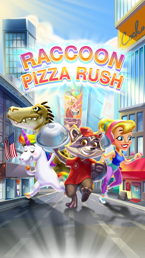 Raccoon Pizza Rush – скриншот