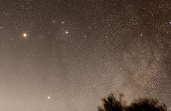 Photo: Mars (top left), Saturn (bottom left), Rho Ophiucus Dark Nebulosity, Antares and Messier 4