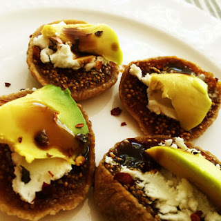 Fig Goat Cheese Avocado Snack Recipe