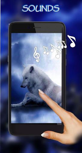 wolves night live wallpaper screenshot 2