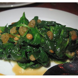 Spinach Sauteed With Raisins and Pine Nuts