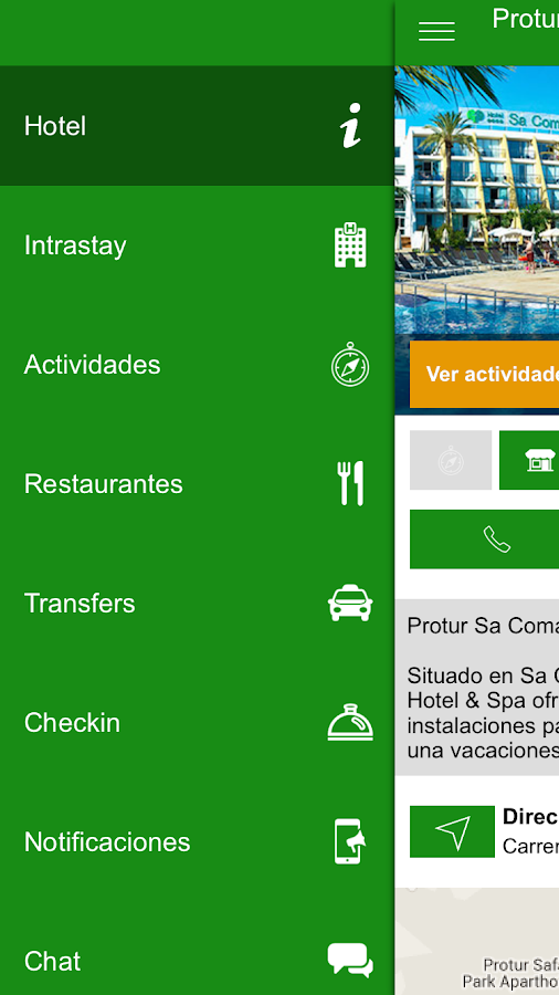 Protur Hotels: captura de pantalla