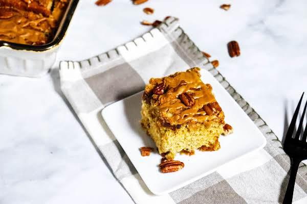 A Piece Of Easy Cinnamon Brown Sugar Coffee Cake.