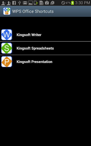 Shortcuts WPS Kingsoft Office