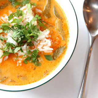 Simple Thai Red Curry Soup.