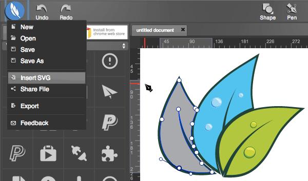 SVG edit Web