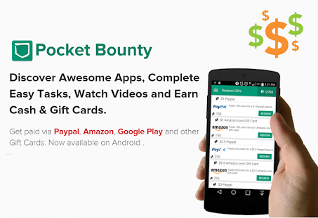 PocketBounty - Free Gift Cards- screenshot thumbnail