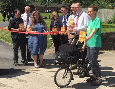 Town's safe route paths officially opened