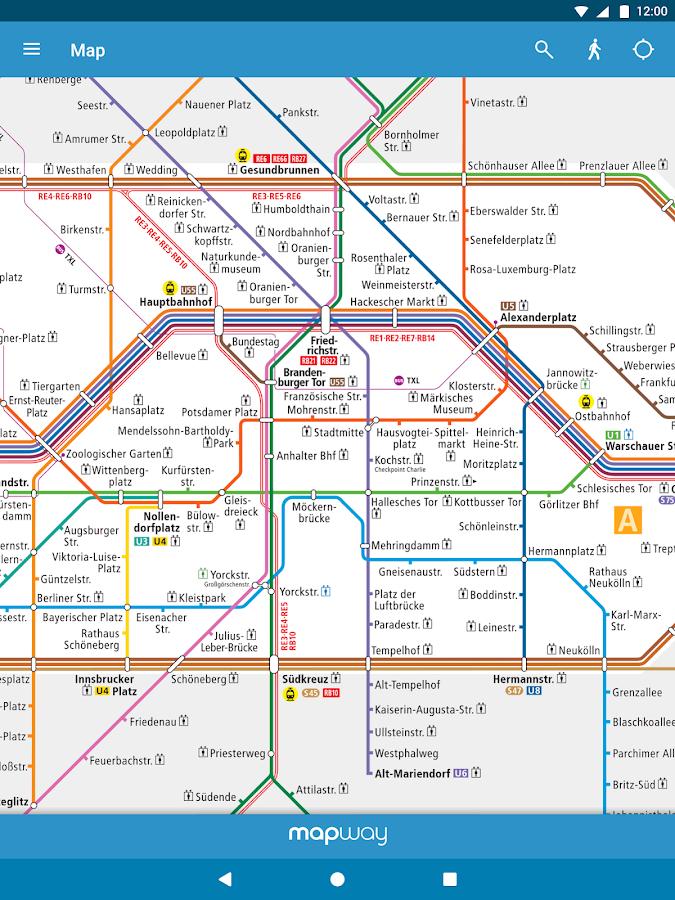 berlin subway bvg u bahn s bahn map and routes aplicaciones de android en google play. Black Bedroom Furniture Sets. Home Design Ideas