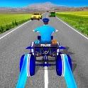 Light ATV Quad Bike Police Chase Traffic Race Game icon