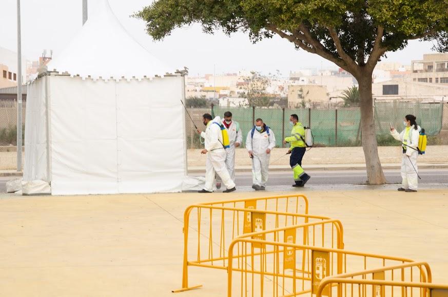 La próxima semana recibirán la dosis de AstraZeneca en el Palacio de los Juegos Mediterráneos unos 240 agentes del Cuerpo Nacional de Policía.