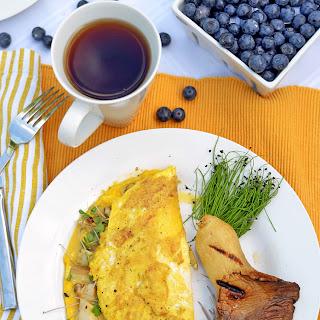 Mushroom Omelette with Microgreens Recipe