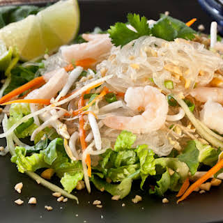 Asian Glass Noodle Salad with Shrimp.