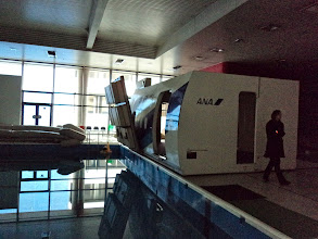 Photo: ANA Cabin Attendant Academy-of course, they have a pool to train for emergency landing