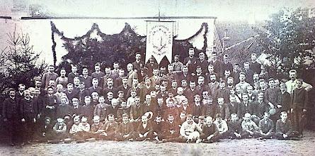 Photo: Ved Vejle Latin- og Realskoles 25 års Jubilæum, 23. august, 1890.
