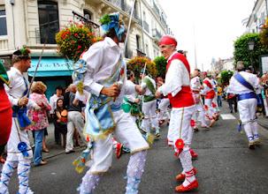 Photo: Danzantes y Banda de Música en Tarbes. Fotos F. Batalla