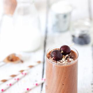 Healthier Chocolate Cherry Coconut Shake