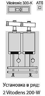 Vitodens 200-W двокотлова установка