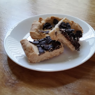 Coconut Shortbread With Dark Chocolate Coconut Chips