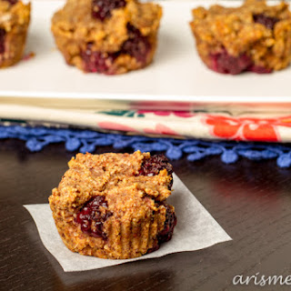 Blackberry Almond Meal Muffins