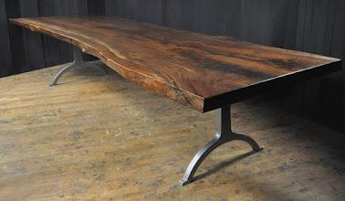 Photo: http://dorsetcustomfurniture.blogspot.com/2016/01/a-claro-walnut-slab-table-1st-of-2016.html