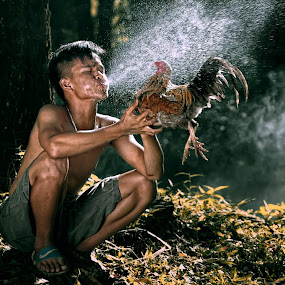 Jalak Lenteng Nama Ayam ku  by Amir  Rodof - People Fine Art ( men, people, animal )